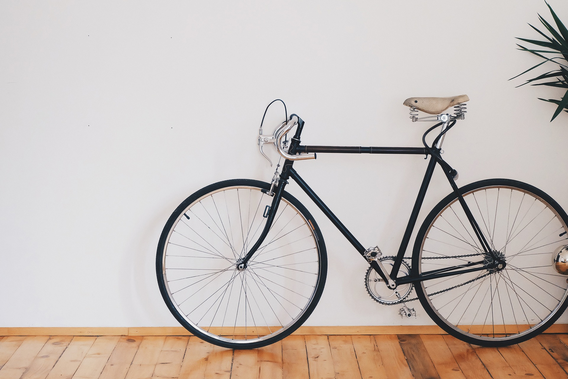 Store your bike on a vertical bike rack instead of keeping it around the apartment.